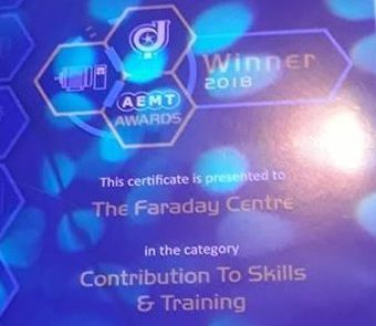 AEMT awards winner certificate